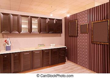 kitchen interior in harmonic tones