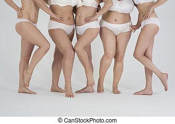 Part of naked women's legs