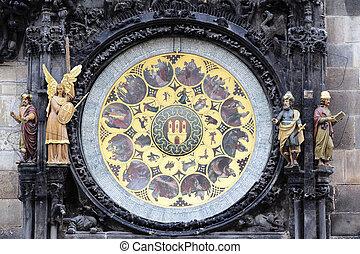 part of Prague zodiacal clock