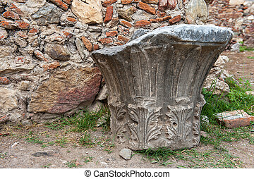 Part of ruin at the Greek Mystras