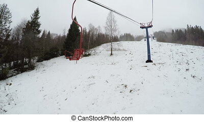 Part of ski lift - Rotating part of ski rope tow