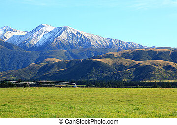 part of southern alps in New Zealand