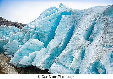 Part of Svartisen Glacier in Norway