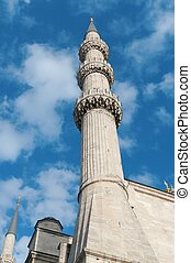 Part of The Blue Mosque, (Sultanahmet Camii), Istanbul, Turkey