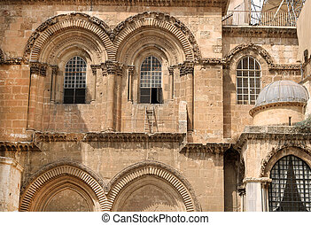 Part of the church of the Holy Sepulchre in Jerusalem, Israel