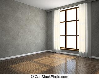 Part of the empty room 3D rendering