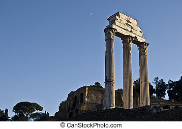 part of the famous Forum Romanum in the centre of Rome