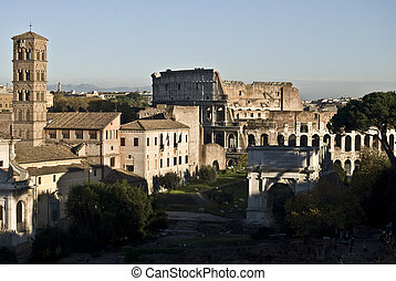 Forum Romanum - part of the famous Forum Romanum in the city...