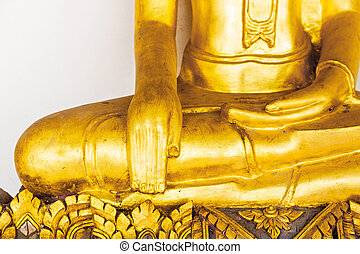 Part of the golden buddha statue