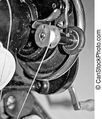 Part of the mechanism of the sewing-machine