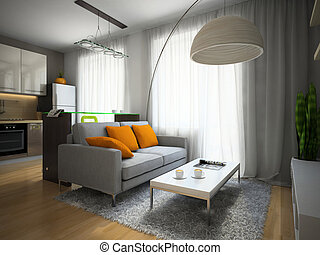 Part of the modern apartment illustration