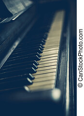 Part of the old piano in vintage style.