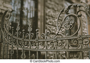part of the old wrought iron gate