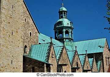 Part of the roof of St Marys Cathedral in Hildesheim