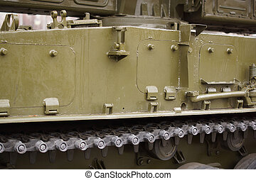 Part of the tank tracks.