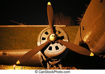 Part of the World War II aircraft