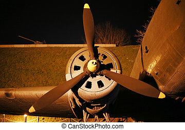 Part of the World War II aircraft