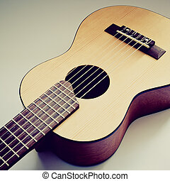 acoustic guitar - part of traditional acoustic guitar