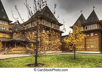 Part of wooden palace