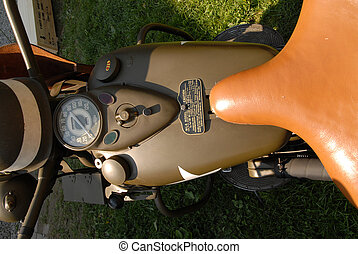 part of world war two military motorcycle