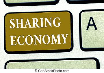 partage, basé, texte, projection, economy., signe, accès, économique, marchandises, conceptuel, modèle, fournir, photo