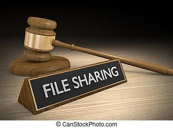 partage, contre, fichier, lois