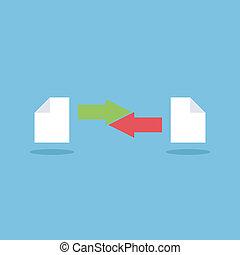 partage, fichier, icône