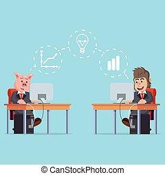 partage, fonctionnement, business, pensée, quoique, animal