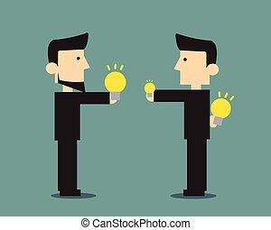 partage, idées, business