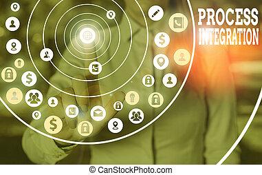 partage, integration., business, photo, texte, conceptuel, processus, evénements, entre, signe, processes., projection, données