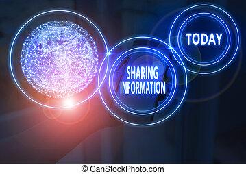 partage, projection, ceci, divers, photo, organisations, éléments, information., texte, image conceptuelle, nasa., entre, signe, échange, meublé, données