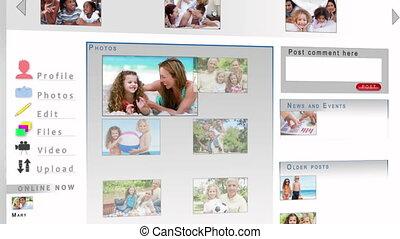 partage, vidéos, leur, famille