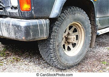 parte automobile, sporco, guida, estremo