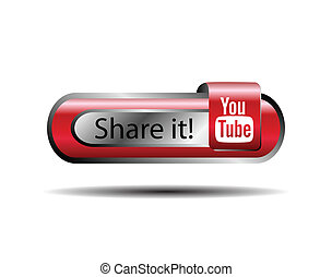 parte, botão, youtube, aquilo, online