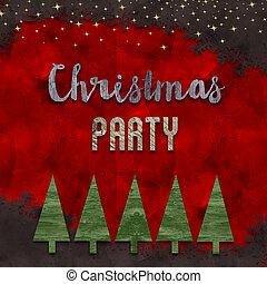 parte christmas, cartão, desenho