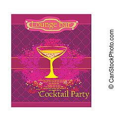 parte cocktail, invito, scheda