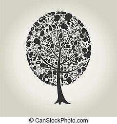parte corpo, albero