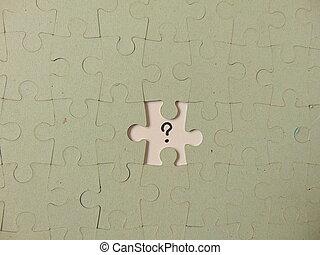 parte faltante, de, um, quebra-cabeça