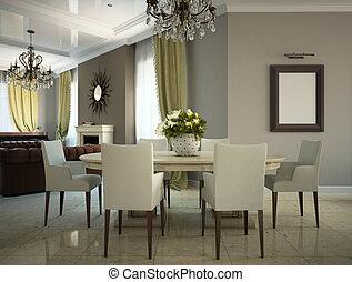 Soggiorno, moderno, country-house, 3d clip art - Cerca Illustrazioni ...