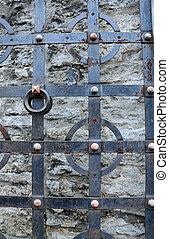 parte, medieval, portão, em, tallinn