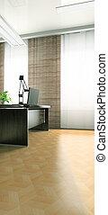parte, modernos, escritório