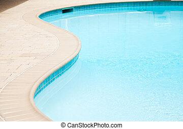 parte, piscina, natação