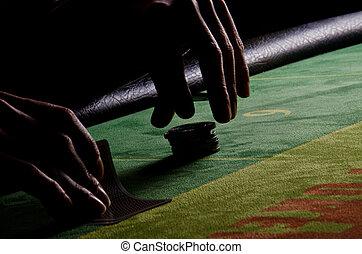 parte posterior - luz, póker