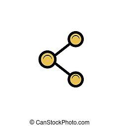 parte, símbolo, desenho, isolado, ícone
