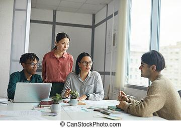 partenaires, écoute, collègue, business