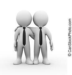 partenaires, 3d, business