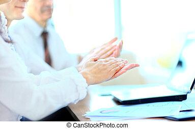 Partenaires, applaudir, mains