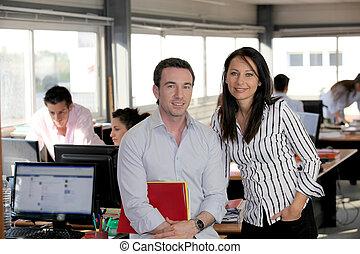 partenaires, bureau occupé, business