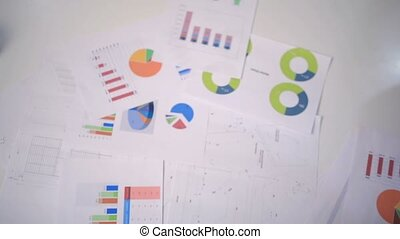 partenaires, business, tas, mains, confection, réunion