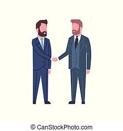 partenaires, concept, affaire, business, réussi, secousse, hommes, accord, deux mains, transmettre secousse, ou